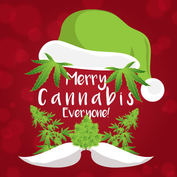 merry cannabis christmas